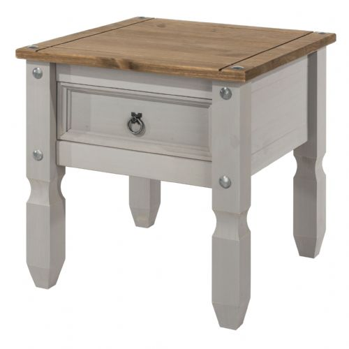 Premium Corona Grey Wash Lamp Table